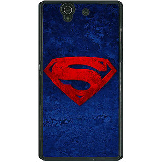 1 Crazy Designer Superheroes Superman Back Cover Case For Sony Xperia Z C460022