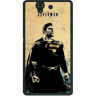 1 Crazy Designer Superheroes Superman Back Cover Case For Sony Xperia Z C460027