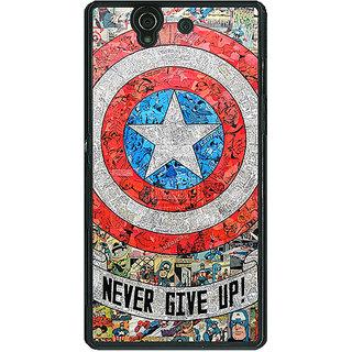1 Crazy Designer Superheroes Captain America Back Cover Case For Sony Xperia Z C460334