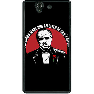 1 Crazy Designer The Godfather Back Cover Case For Sony Xperia Z C460349