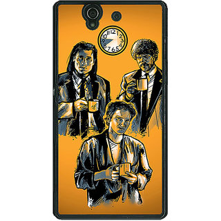 1 Crazy Designer Pulp Fiction Back Cover Case For Sony Xperia Z C460351