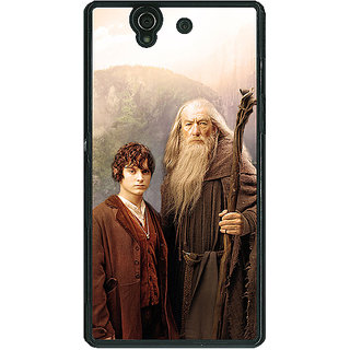 1 Crazy Designer LOTR Hobbit Gandalf Frodo Back Cover Case For Sony Xperia Z C460357