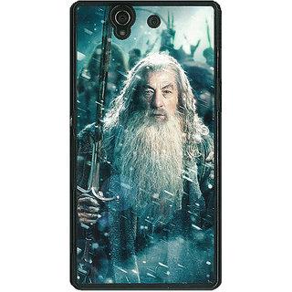 1 Crazy Designer LOTR Hobbit Gandalf Back Cover Case For Sony Xperia Z C460363