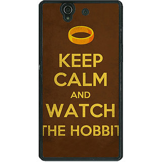 1 Crazy Designer LOTR Hobbit  Back Cover Case For Sony Xperia Z C460376