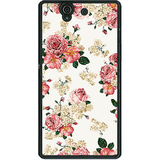 1 Crazy Designer Floral Pattern  Back Cover Case For Sony Xperia Z C460659