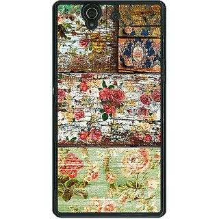 1 Crazy Designer Floral Pattern  Back Cover Case For Sony Xperia Z C460673