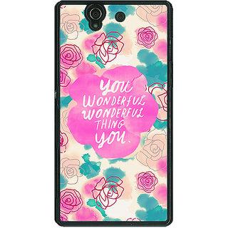 1 Crazy Designer Floral Pattern  Back Cover Case For Sony Xperia Z C460677