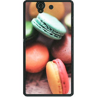 1 Crazy Designer Macaroons Back Cover Case For Sony Xperia Z C460685