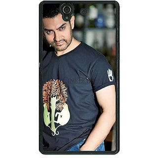1 Crazy Designer Bollywood Superstar Aamir Khan Back Cover Case For Sony Xperia Z C460918