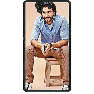 1 Crazy Designer Bollywood Superstar Ranveer Singh Back Cover Case For Sony Xperia Z C460921
