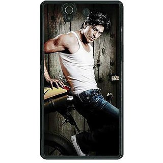 1 Crazy Designer Bollywood Superstar Shahrukh Khan Back Cover Case For Sony Xperia Z C460947