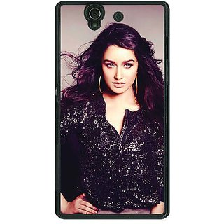 1 Crazy Designer Bollywood Superstar Shraddha Kapoor Back Cover Case For Sony Xperia Z C460980