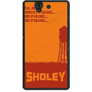 1 Crazy Designer Bollywood Superstar Sholay Back Cover Case For Sony Xperia Z C461125