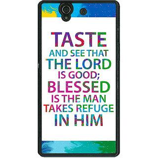 1 Crazy Designer Gautam Buddha Quote Back Cover Case For Sony Xperia Z C461284