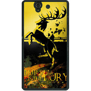 1 Crazy Designer Game Of Thrones GOT Baratheon Back Cover Case For Sony Xperia Z C461530