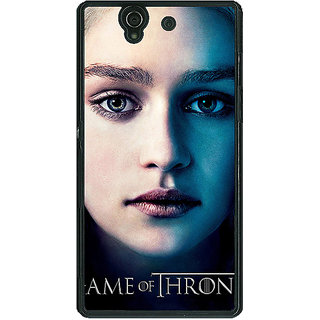 1 Crazy Designer Game Of Thrones GOT Khaleesi Daenerys Targaryen Back Cover Case For Sony Xperia Z C461544