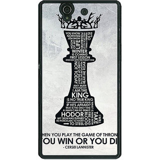 1 Crazy Designer Game Of Thrones GOT Cersei Lannister Quote Back Cover Case For Sony Xperia Z C461547