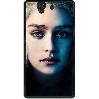 1 Crazy Designer Game Of Thrones GOT Khaleesi Daenerys Targaryen Back Cover Case For Sony Xperia Z C461551