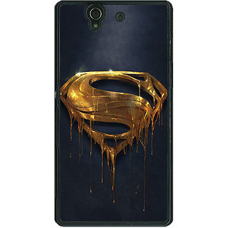 1 Crazy Designer Superheroes Superman Back Cover Case For Sony Xperia Z C460391