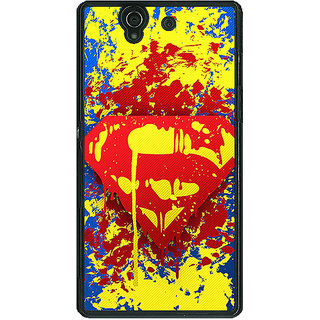 1 Crazy Designer Superheroes Superman Back Cover Case For Sony Xperia Z C460392