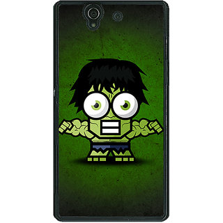 1 Crazy Designer Big Eyed Superheroes Hulk Back Cover Case For Sony Xperia Z C460394