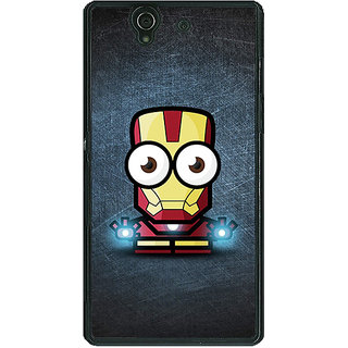 1 Crazy Designer Big Eyed Superheroes Iron Man Back Cover Case For Sony Xperia Z C460396