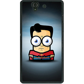 1 Crazy Designer Big Eyed Superheroes Superman Back Cover Case For Sony Xperia Z C460397