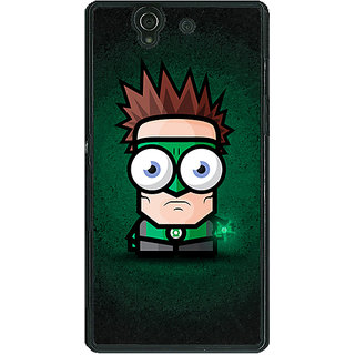 1 Crazy Designer Big Eyed Superheroes Green Lantern Back Cover Case For Sony Xperia Z C460399