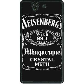 1 Crazy Designer Breaking Bad Heisenberg Back Cover Case For Sony Xperia Z C460402