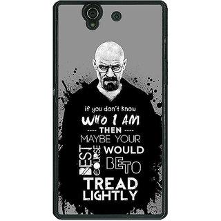 1 Crazy Designer Breaking Bad Heisenberg Back Cover Case For Sony Xperia Z C460427