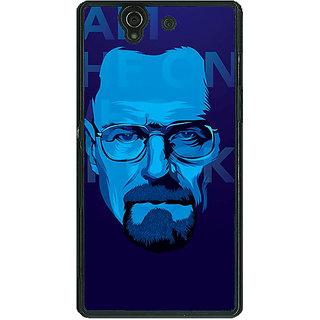 1 Crazy Designer Breaking Bad Heisenberg Back Cover Case For Sony Xperia Z C460431
