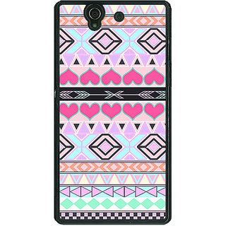 1 Crazy Designer Aztec Tribal  Back Cover Case For Sony Xperia Z C460705