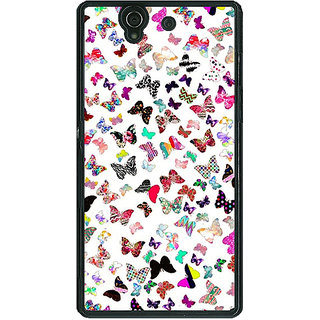 1 Crazy Designer Butterflies Back Cover Case For Sony Xperia Z C460709