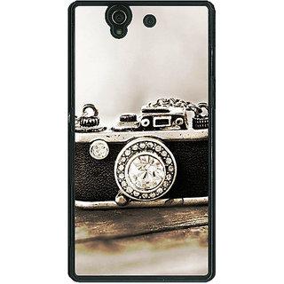 1 Crazy Designer Vintage Camera  Back Cover Case For Sony Xperia Z C460712