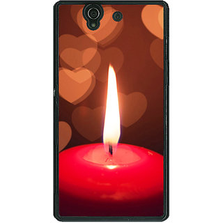 1 Crazy Designer Candle Light Romance Back Cover Case For Sony Xperia Z C460713