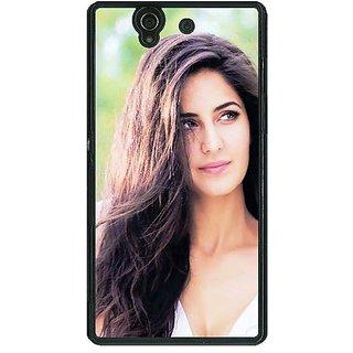 1 Crazy Designer Bollywood Superstar Katrina Kaif Back Cover Case For Sony Xperia Z C461023