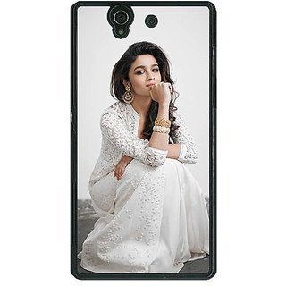 1 Crazy Designer Bollywood Superstar Alia Bhatt Back Cover Case For Sony Xperia Z C461025