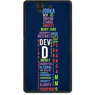 1 Crazy Designer Bollywood Superstar DevD Back Cover Case For Sony Xperia Z C461130