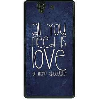 1 Crazy Designer Love Quote Back Cover Case For Sony Xperia Z C461328