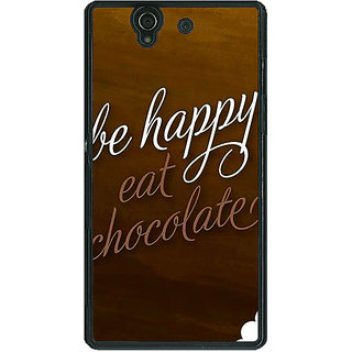 1 Crazy Designer Chocolate Quote Back Cover Case For Sony Xperia Z C461330
