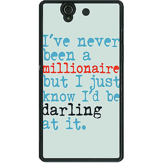 1 Crazy Designer Quote Back Cover Case For Sony Xperia Z C461339