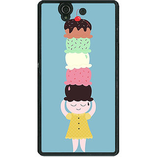 1 Crazy Designer Ice Cream Back Cover Case For Sony Xperia Z C461340