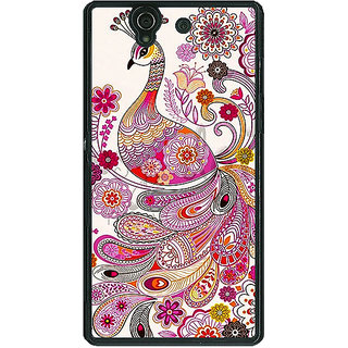 1 Crazy Designer Paisley Beautiful Peacock Back Cover Case For Sony Xperia Z C461584