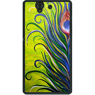 1 Crazy Designer Paisley Beautiful Peacock Back Cover Case For Sony Xperia Z C461590