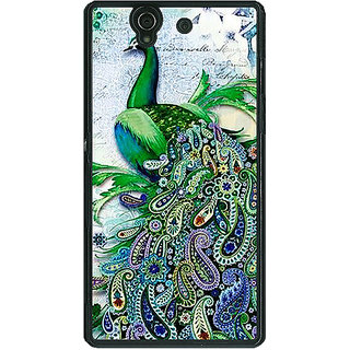 1 Crazy Designer Paisley Beautiful Peacock Back Cover Case For Sony Xperia Z C461591