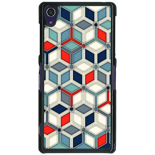 1 Crazy Designer Wild Hexagon Pattern Back Cover Case For Sony Xperia Z1 C470282