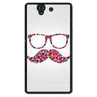 1 Crazy Designer Mustache Back Cover Case For Sony Xperia Z C460751