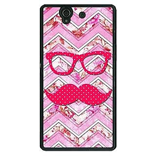 1 Crazy Designer Mustache Back Cover Case For Sony Xperia Z C460753