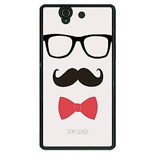 1 Crazy Designer Mustache Back Cover Case For Sony Xperia Z C460756