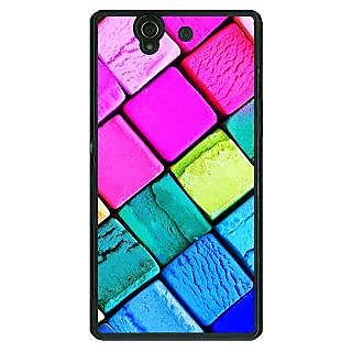 1 Crazy Designer Colours Back Cover Case For Sony Xperia Z C460765
